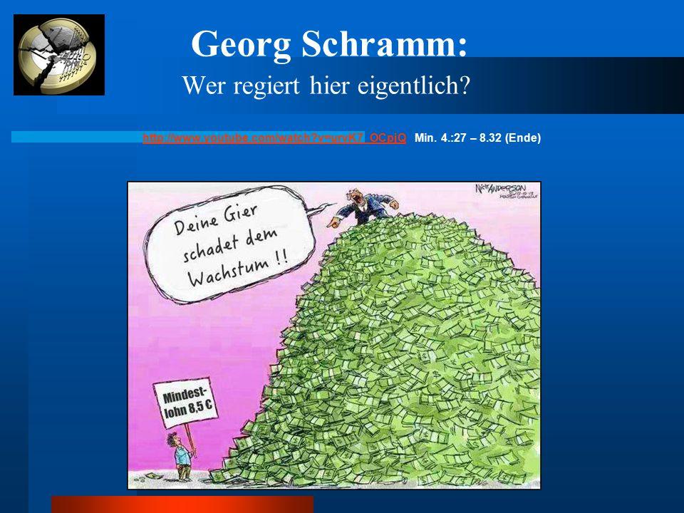 Georg Schramm: Wer regiert hier eigentlich? http://www.youtube.com/watch?v=urvK7_OCpjQhttp://www.youtube.com/watch?v=urvK7_OCpjQ Min. 4.:27 – 8.32 (En