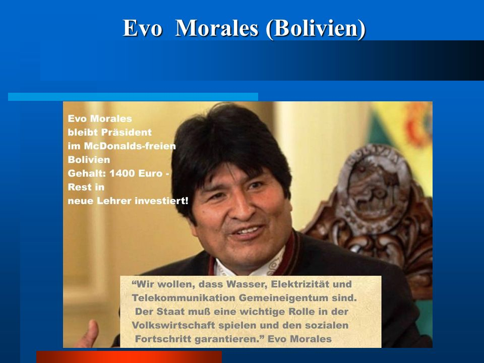 Evo Morales (Bolivien)