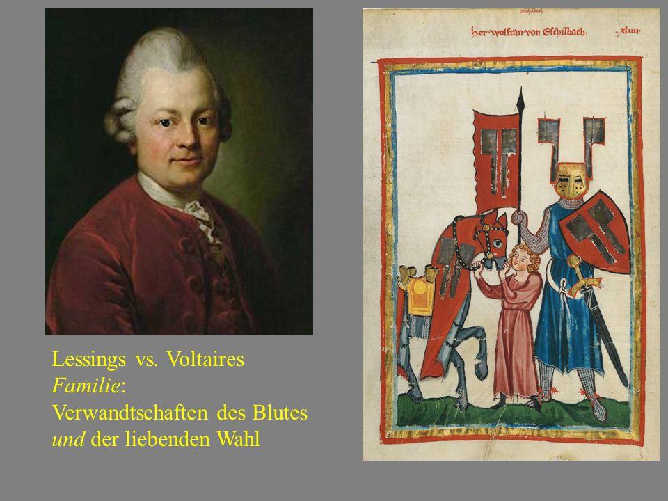 Lessings vs. Voltaires Familie: Verwandtschaften des Blutes und der liebenden Wahl