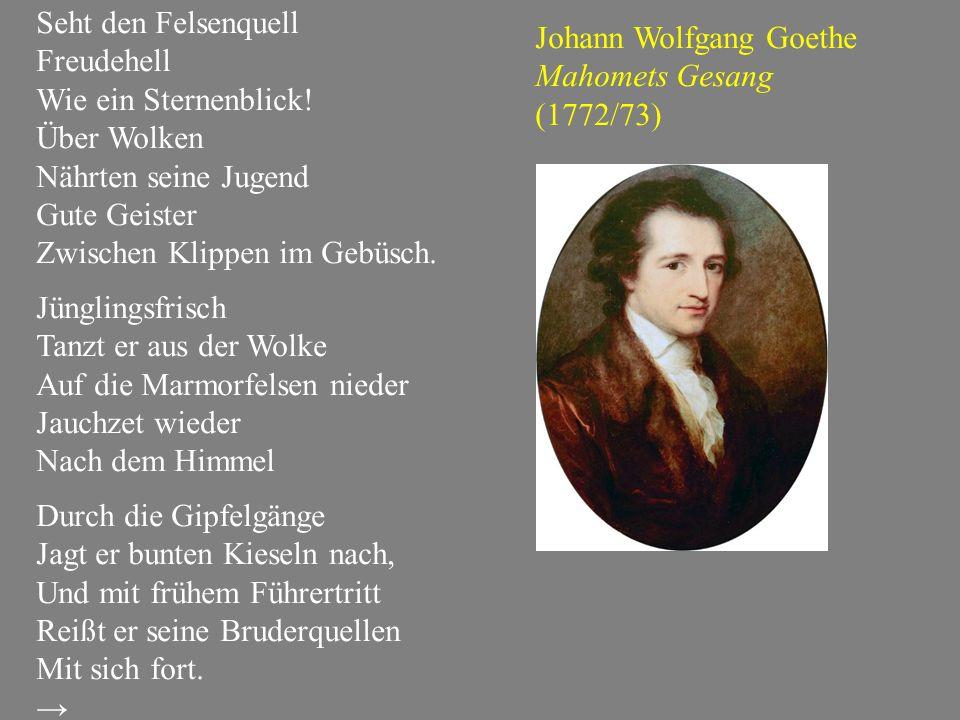 …und ein unerwarteter Schüler von Goethes Mahomet Thomas Mann: Joseph und seine Brüder, Bd.