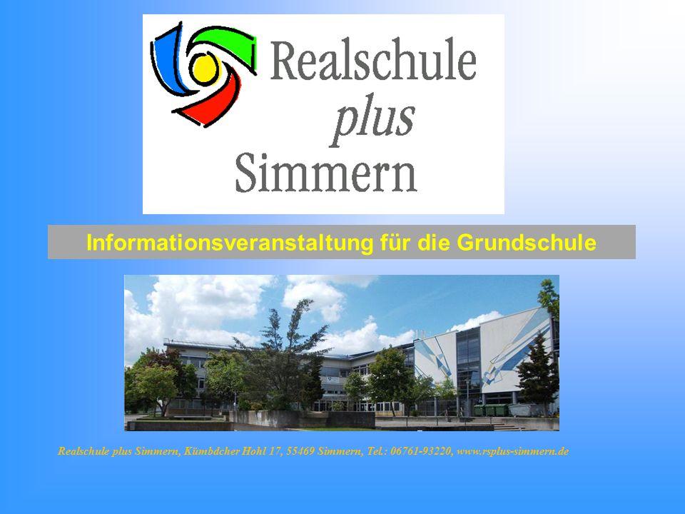 Informationsveranstaltung für die Grundschule Realschule plus Simmern, Kümbdcher Hohl 17, 55469 Simmern, Tel.: 06761-93220, www.rsplus-simmern.de
