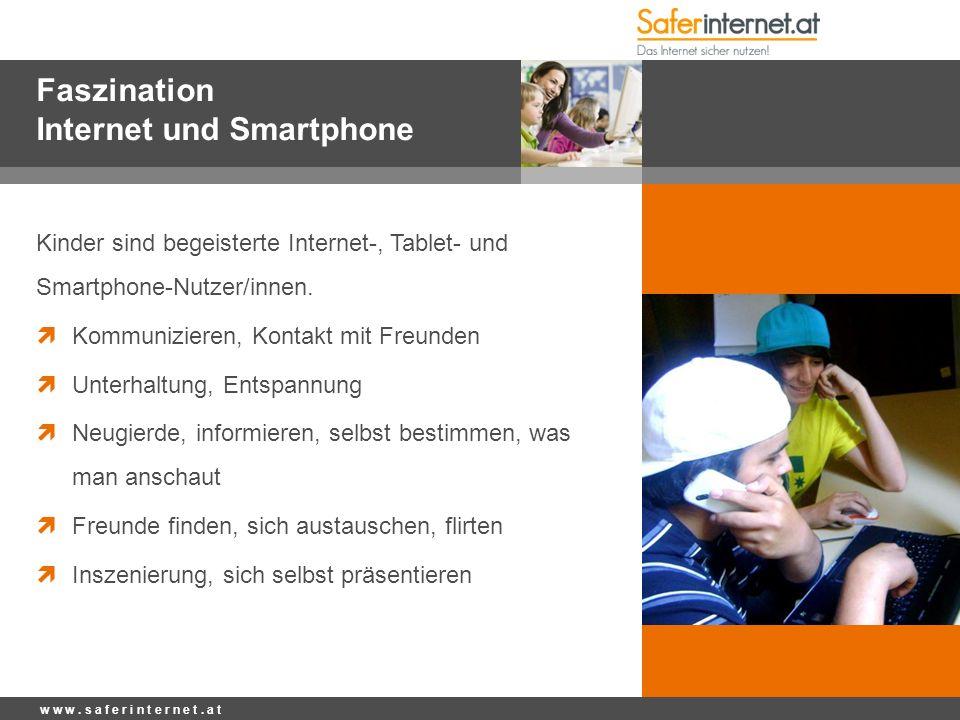 Faszination Internet und Smartphone Kinder sind begeisterte Internet-, Tablet- und Smartphone-Nutzer/innen.  Kommunizieren, Kontakt mit Freunden  Un