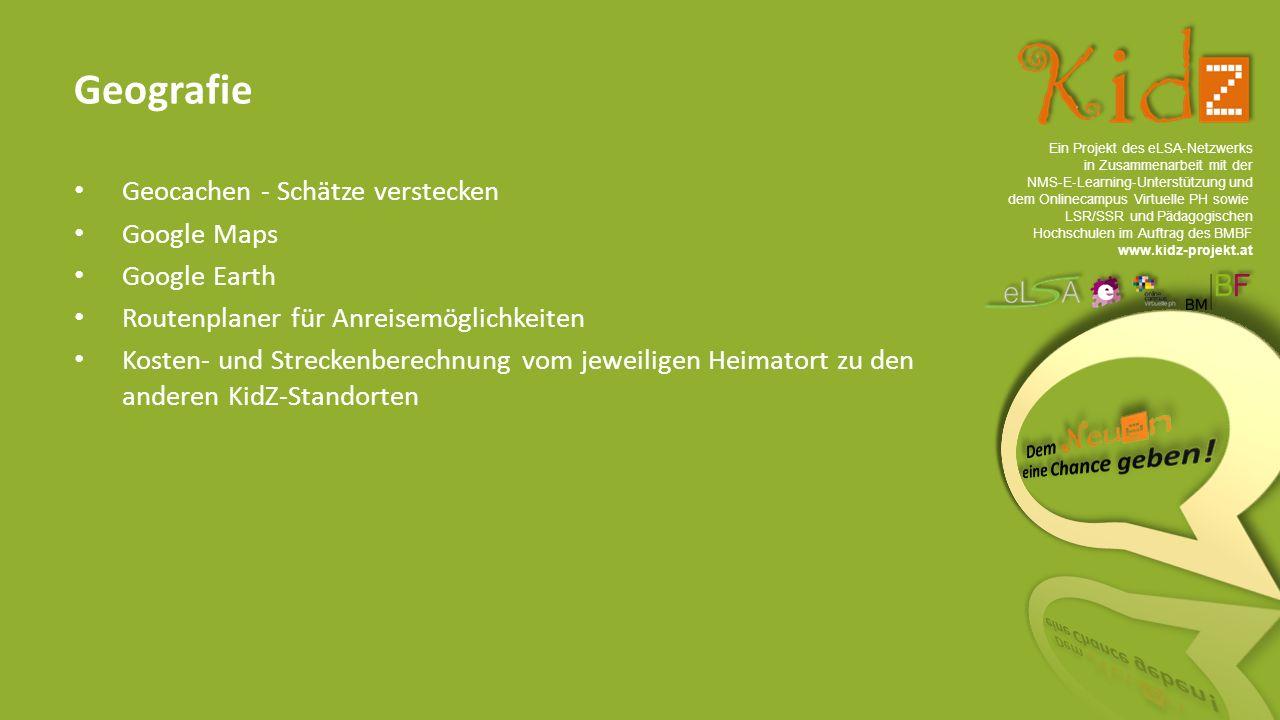 Ein Projekt des eLSA ‐ Netzwerks in Zusammenarbeit mit der NMS ‐ E ‐ Learning ‐ Unterstützung und dem Onlinecampus Virtuelle PH sowie LSR/SSR und Pädagogischen Hochschulen im Auftrag des BMBF www.kidz-projekt.at Das Finale Namen des Caches festlegen Anmelden bei www.geocaching.comwww.geocaching.com Cache-Container ins Versteck bringen Fertig.