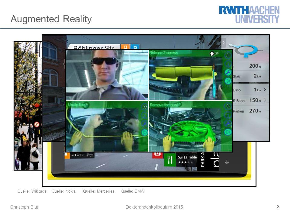 Christoph Blut Augmented Reality 3 Doktorandenkolloquium 2015 Quelle: WikitudeQuelle: NokiaQuelle: MercedesQuelle: BMW