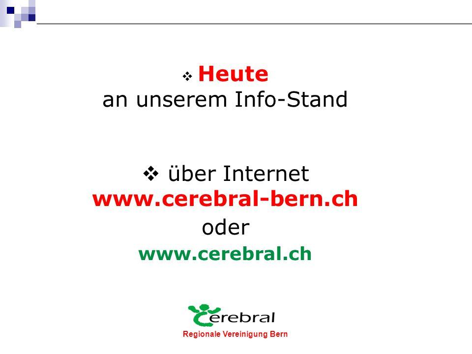 Regionale Vereinigung Bern Werden Sie Mitglied der regionalen Vereinigung Cerebral Bern!