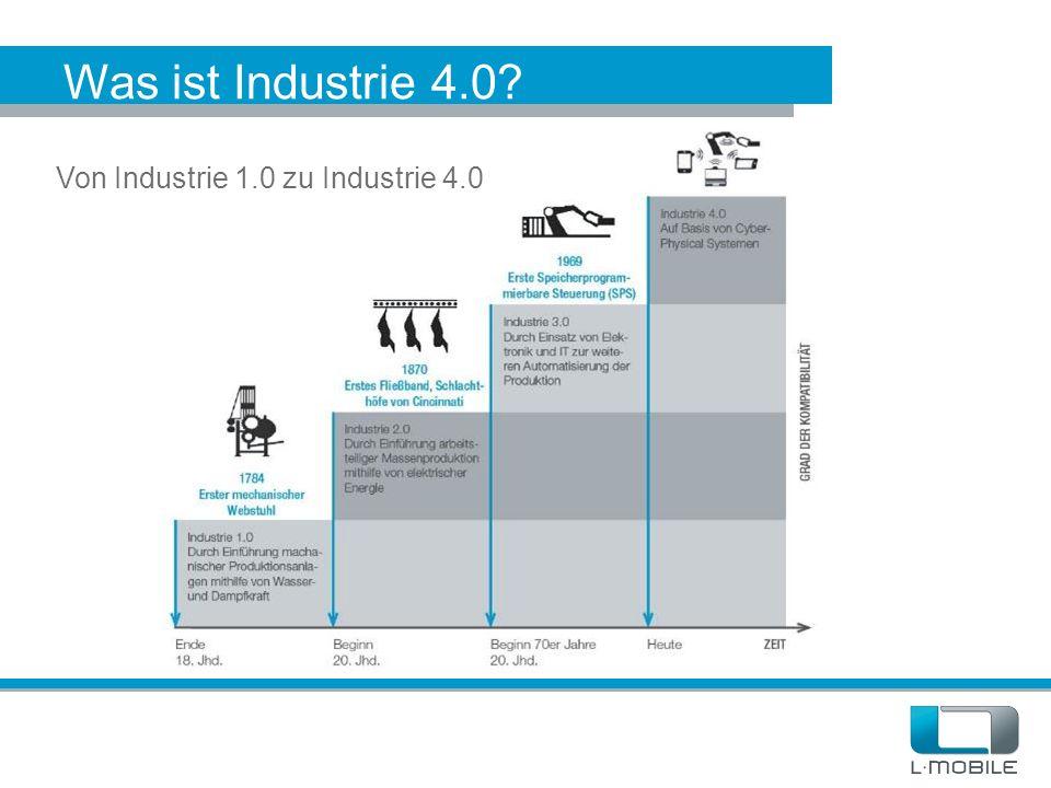 Was ist Industrie 4.0? Von Industrie 1.0 zu Industrie 4.0