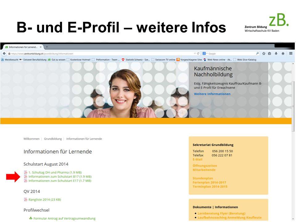 B- und E-Profil – weitere Infos