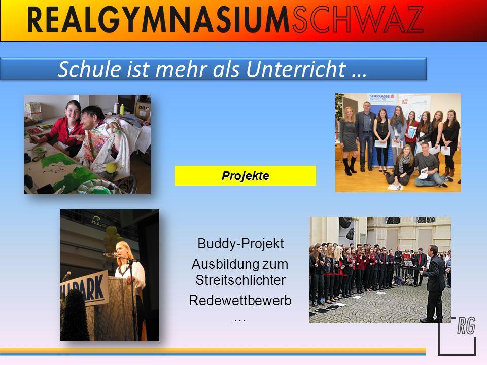 Projekte Buddy-Projekt Ausbildung zum Streitschlichter Redewettbewerb …
