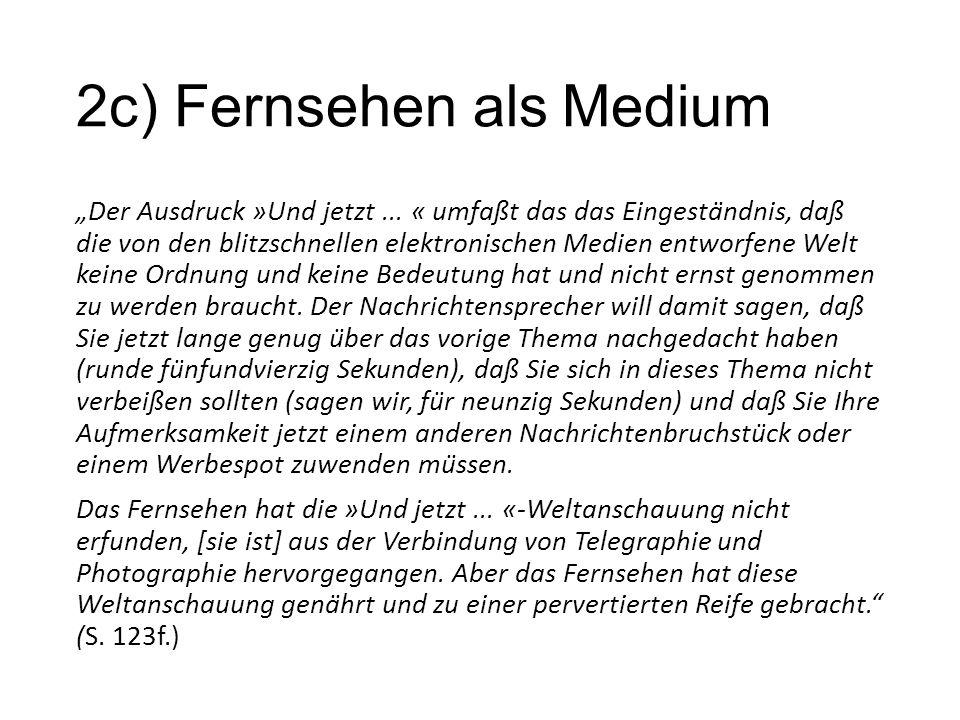 """2c) Fernsehen als Medium """"Der Ausdruck »Und jetzt..."""