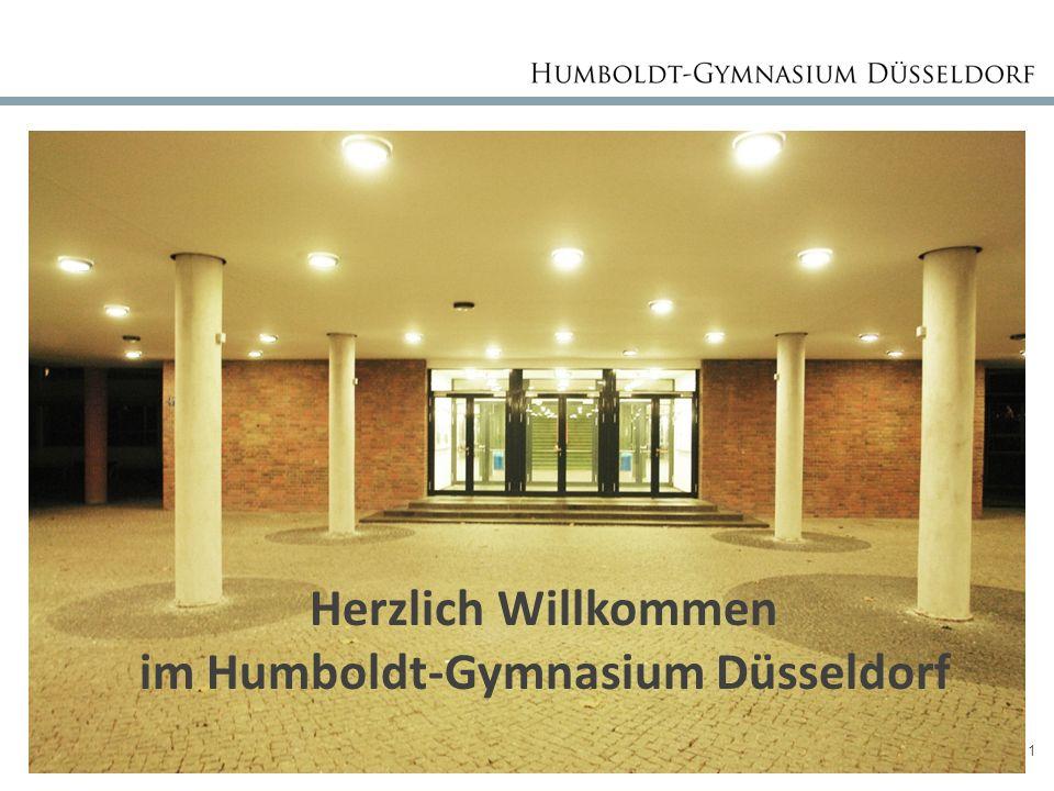 Seite 1 Herzlich Willkommen im Humboldt-Gymnasium Düsseldorf