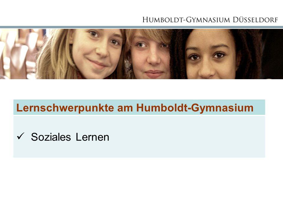 Lernschwerpunkte am Humboldt-Gymnasium Soziales Lernen