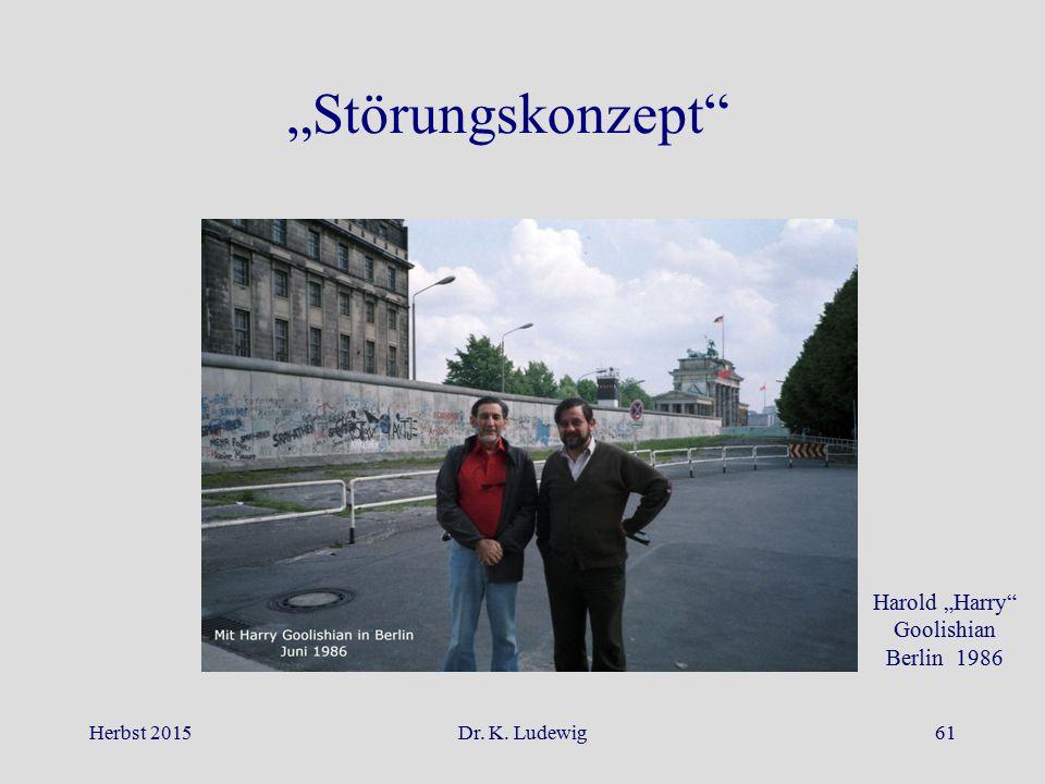 "Herbst 2015Dr. K. Ludewig61 ""Störungskonzept"" Harold ""Harry"" Goolishian Berlin 1986"
