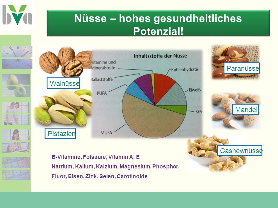 Nüsse – hohes gesundheitliches Potenzial.