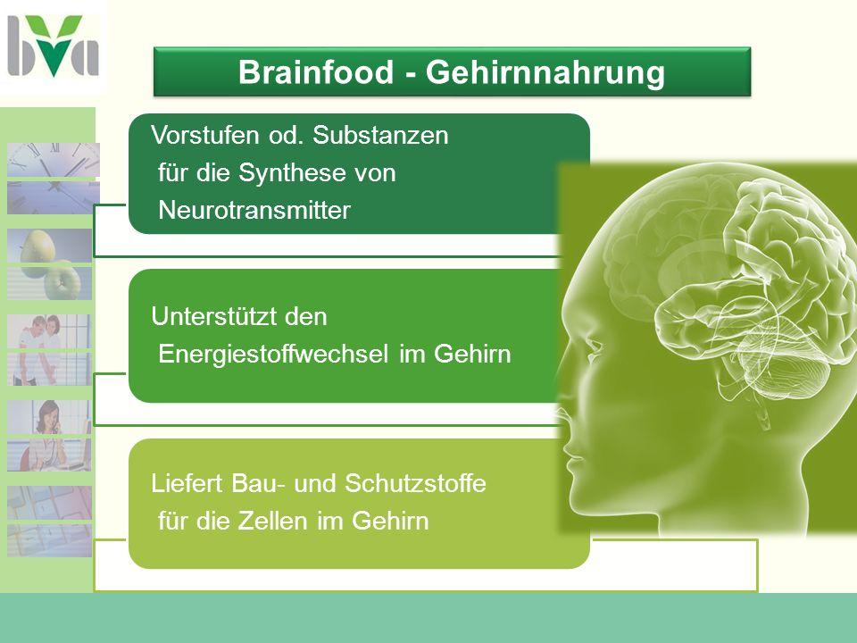 Lebensmittel-Inhaltsstoffe für unser Gehirn