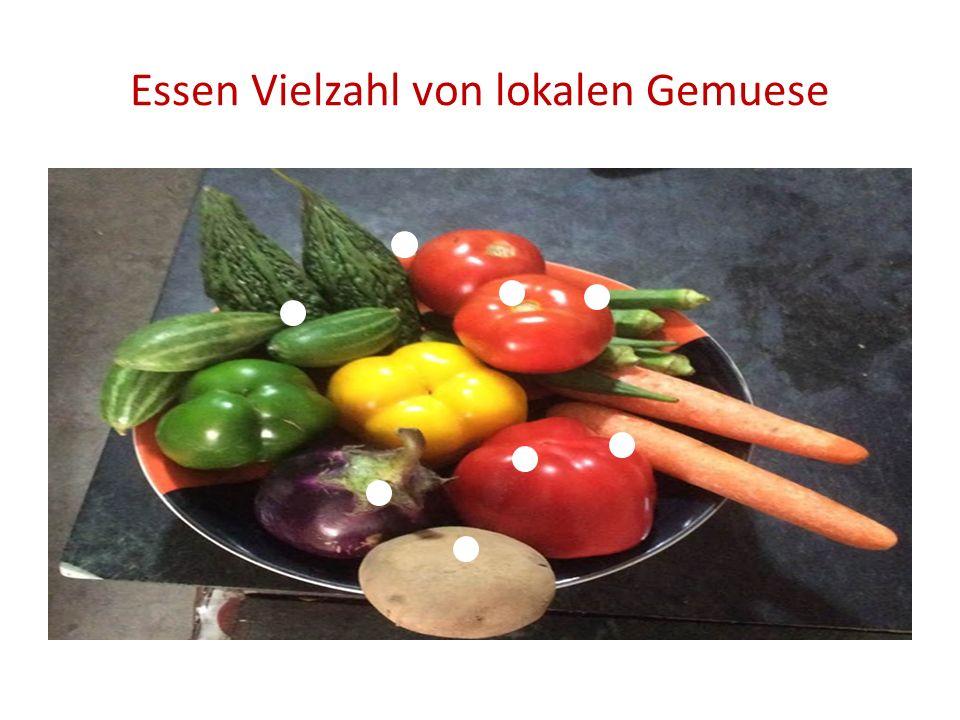 Essen Vielzahl von lokalen Gemuese