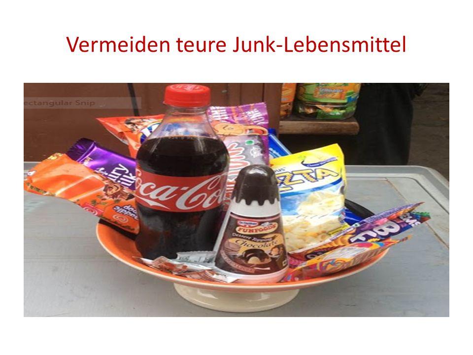 Vermeiden teure Junk-Lebensmittel