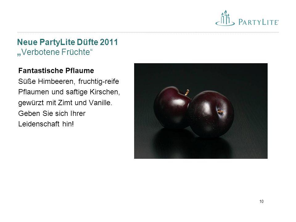 """10 Neue PartyLite Düfte 2011 """"Verbotene Früchte"""" Fantastische Pflaume Süße Himbeeren, fruchtig-reife Pflaumen und saftige Kirschen, gewürzt mit Zimt u"""
