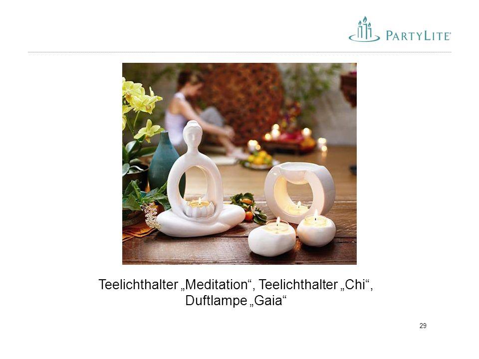 """29 Teelichthalter """"Meditation"""", Teelichthalter """"Chi"""", Duftlampe """"Gaia"""""""