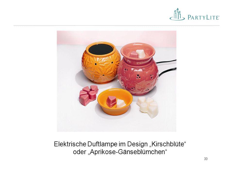 """33 Elektrische Duftlampe im Design """"Kirschblüte"""" oder """"Aprikose-Gänseblümchen"""""""