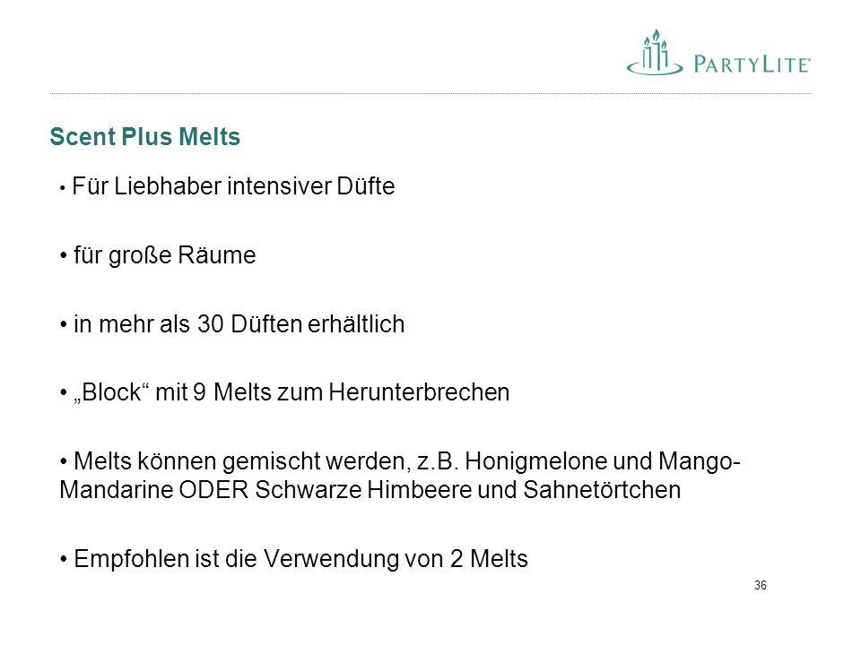 """36 Scent Plus Melts Für Liebhaber intensiver Düfte für große Räume in mehr als 30 Düften erhältlich """"Block"""" mit 9 Melts zum Herunterbrechen Melts könn"""