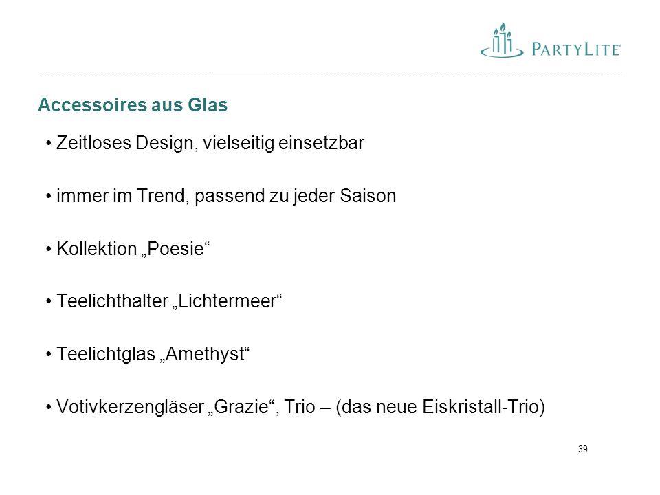 """39 Accessoires aus Glas Zeitloses Design, vielseitig einsetzbar immer im Trend, passend zu jeder Saison Kollektion """"Poesie"""" Teelichthalter """"Lichtermee"""