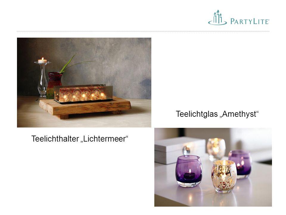 """42 Teelichtglas """"Amethyst"""" Teelichthalter """"Lichtermeer"""""""