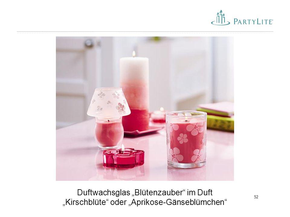 """52 Duftwachsglas """"Blütenzauber"""" im Duft """"Kirschblüte"""" oder """"Aprikose-Gänseblümchen"""""""