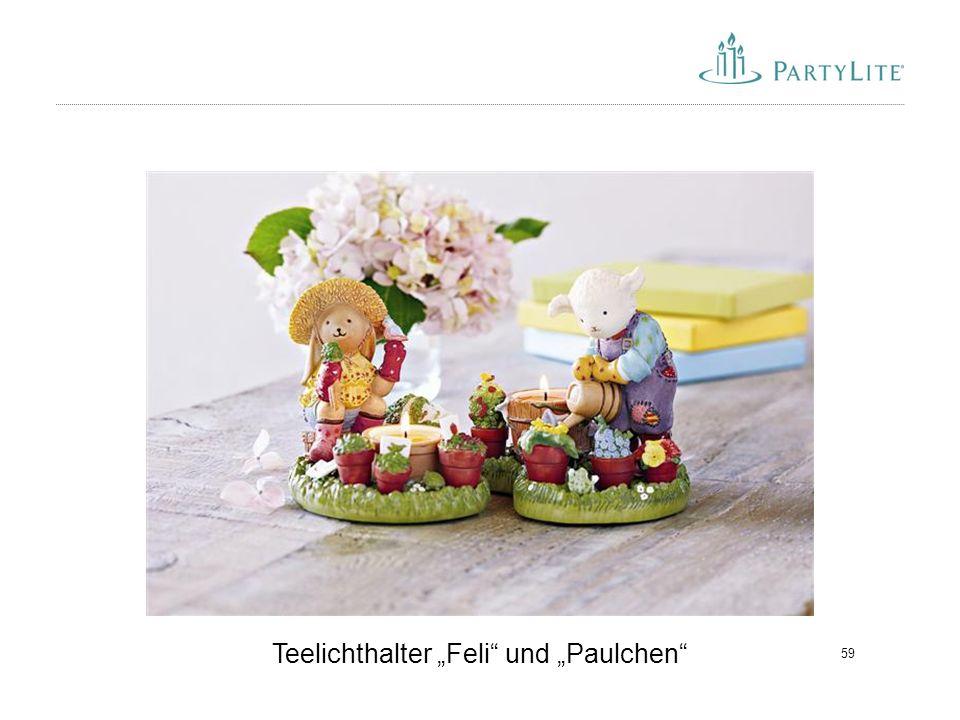 """59 Teelichthalter """"Feli"""" und """"Paulchen"""""""