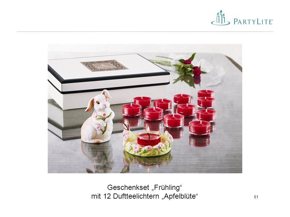 """61 Geschenkset """"Frühling"""" mit 12 Duftteelichtern """"Apfelblüte"""""""
