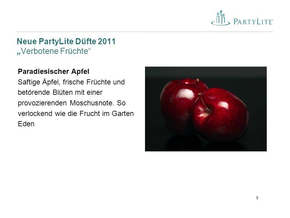 """10 Neue PartyLite Düfte 2011 """"Verbotene Früchte Fantastische Pflaume Süße Himbeeren, fruchtig-reife Pflaumen und saftige Kirschen, gewürzt mit Zimt und Vanille."""