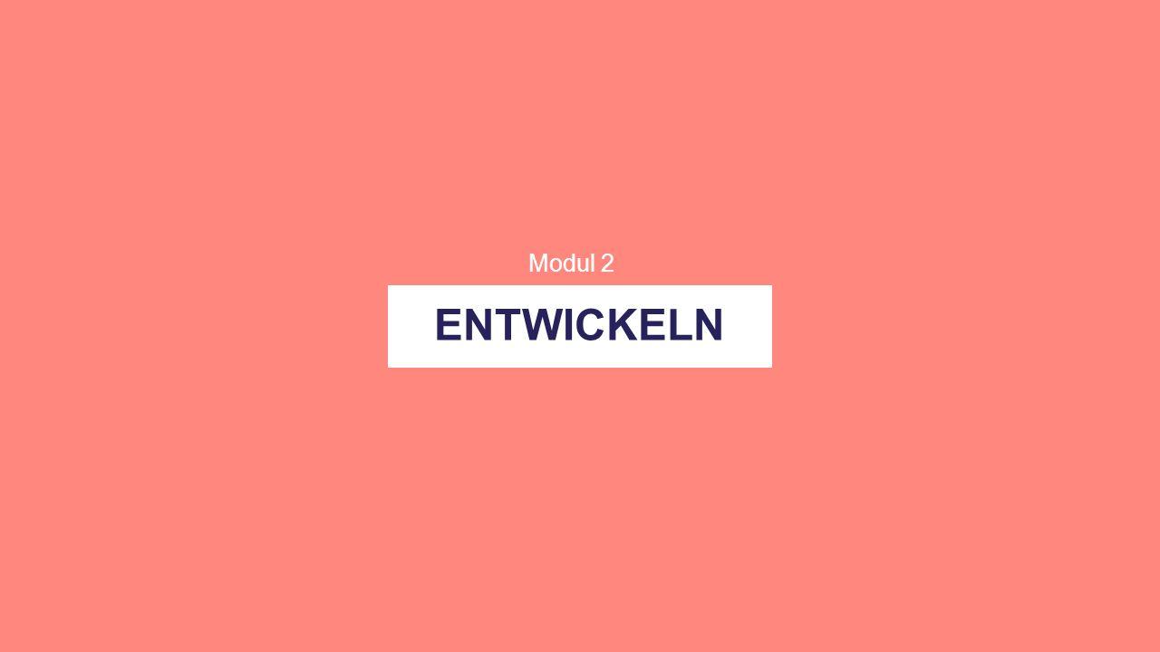 ENTWICKELN Modul 2
