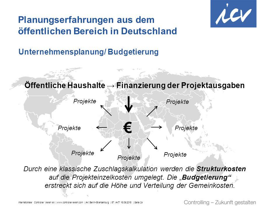 Internationaler Controller Verein eV | www.controllerverein.com | AK Berlin-Brandenburg | 57. AKT 18.09.2015 | Seite 24 Planungserfahrungen aus dem öf