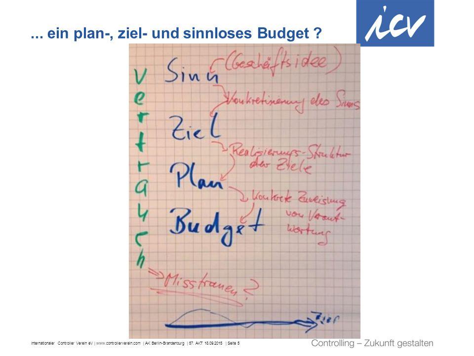 Internationaler Controller Verein eV | www.controllerverein.com | AK Berlin-Brandenburg | 57. AKT 18.09.2015 | Seite 5... ein plan-, ziel- und sinnlos