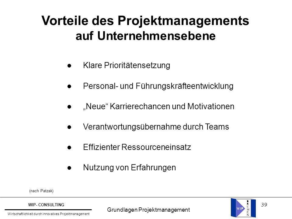 """39 Vorteile des Projektmanagements auf Unternehmensebene l Klare Prioritätensetzung l Personal- und Führungskräfteentwicklung l """"Neue"""" Karrierechancen"""