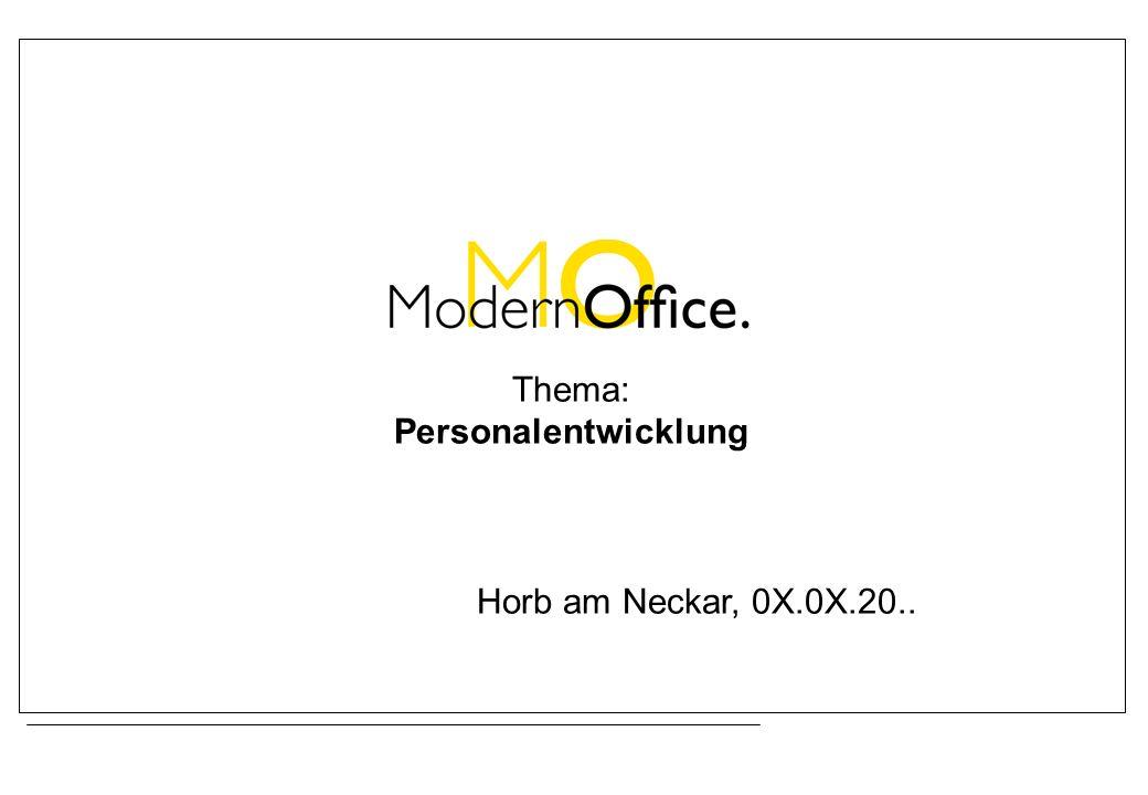 Thema: Personalentwicklung Horb am Neckar, 0X.0X.20..
