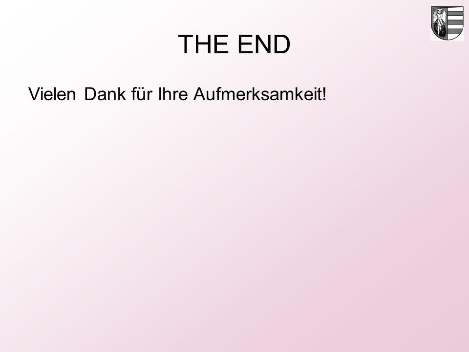 THE END Vielen Dank für Ihre Aufmerksamkeit!