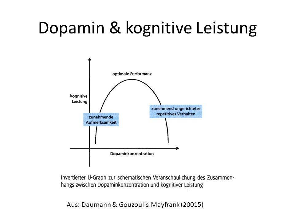 Dopamin & kognitive Leistung Aus: Daumann & Gouzoulis-Mayfrank (20015)
