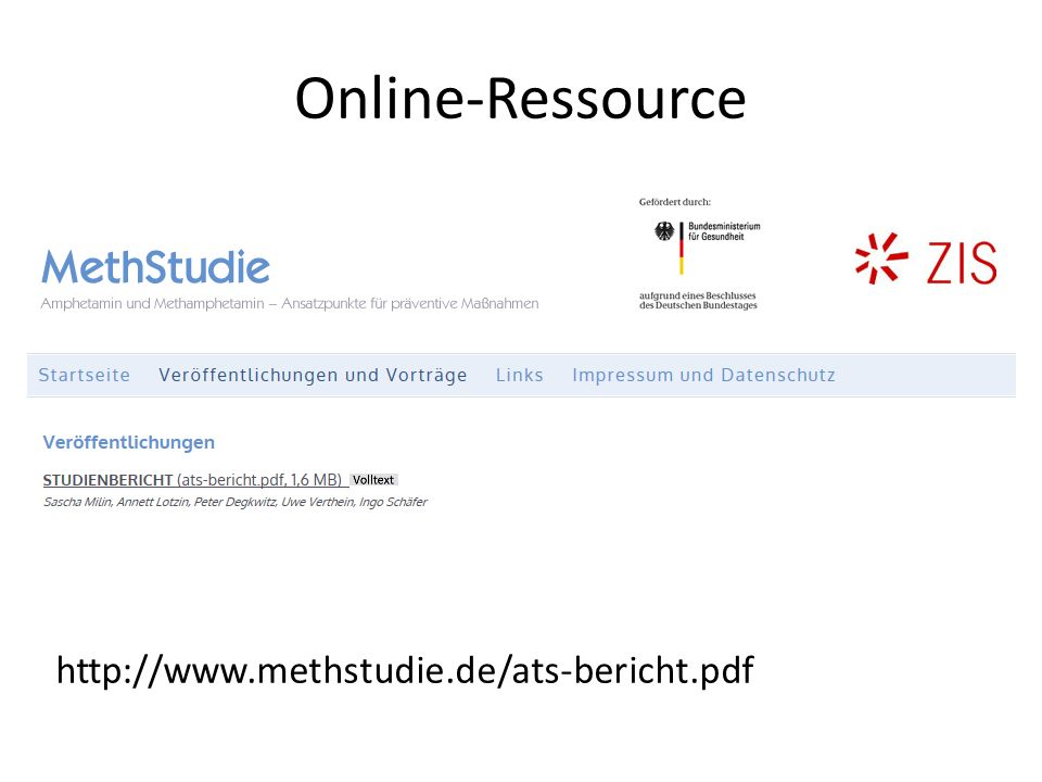 Online-Ressource http://www.methstudie.de/ats-bericht.pdf
