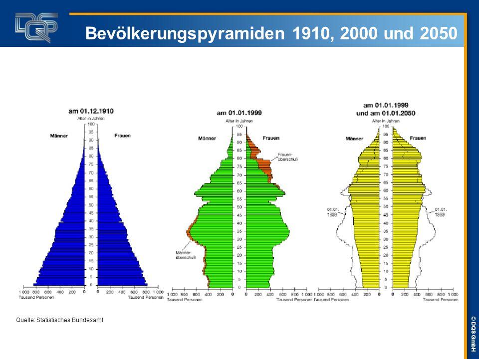 © DQS GmbH Erwerbspersonen nach Altersgruppen 200020152030 Über 50 Jährige20,9 %31,9 %32,1 % 30 – 50 Jährige57,1 %46,7 %47,6 % 15 – 30 Jährige22 %21,4 %20,3 % In den nächsten 15 Jahren steht der Arbeitsmarkt nicht vor der Herausforderung eines schrumpfenden Arbeitsmarktes, sondern vor allem vor der Herausforderung des Älterwerdens.