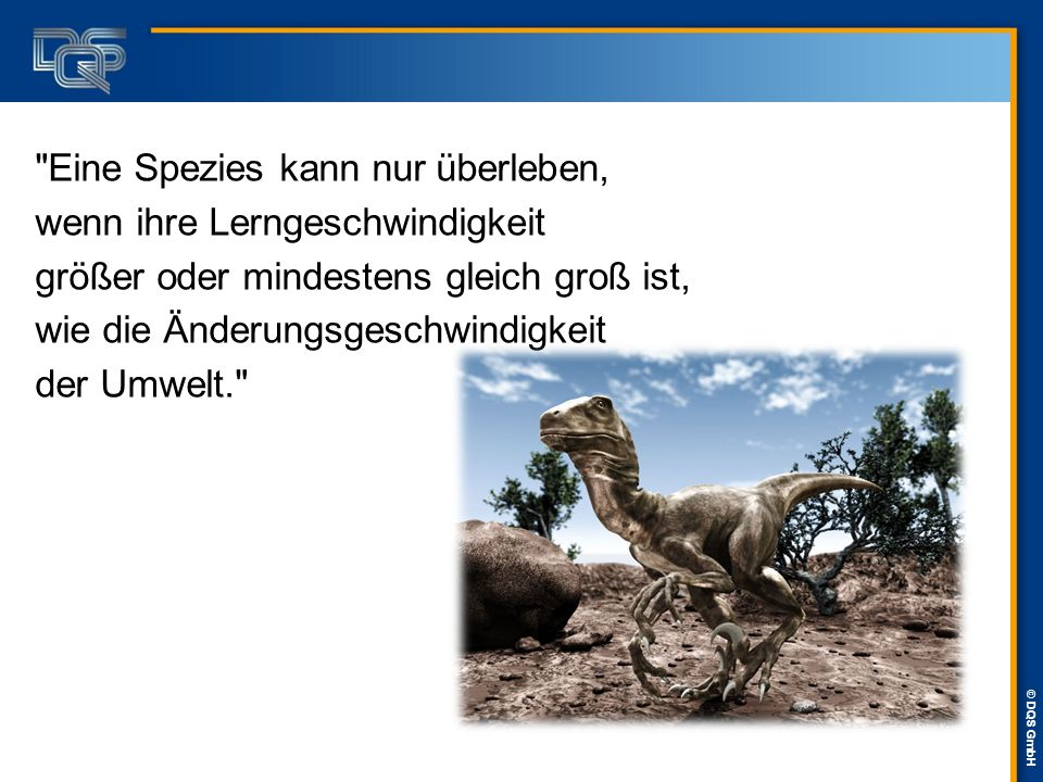 © DQS GmbH Lösungsansätze  Das individuelle Leistungsvermögen älterer AN sollte schon heute strategisch betrachtet und Maßnahmen wie Schulungen zu anderen Aufgaben vorgesehen werden.