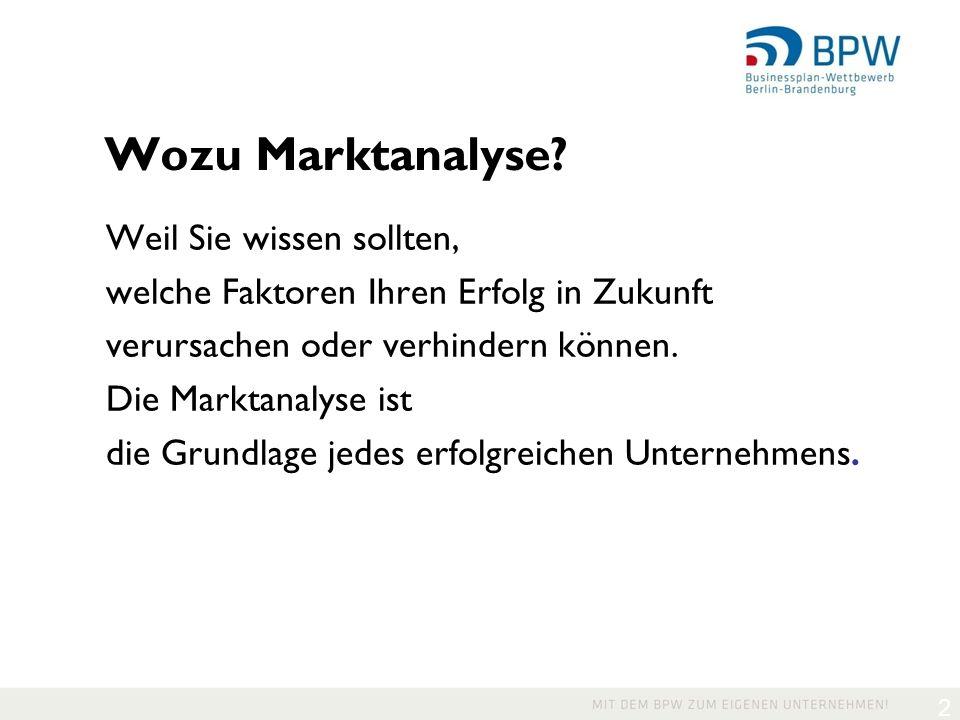 2 Wozu Marktanalyse.