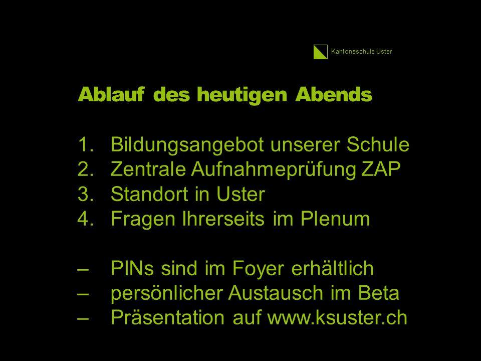 Kantonsschule Uster Bildungswege