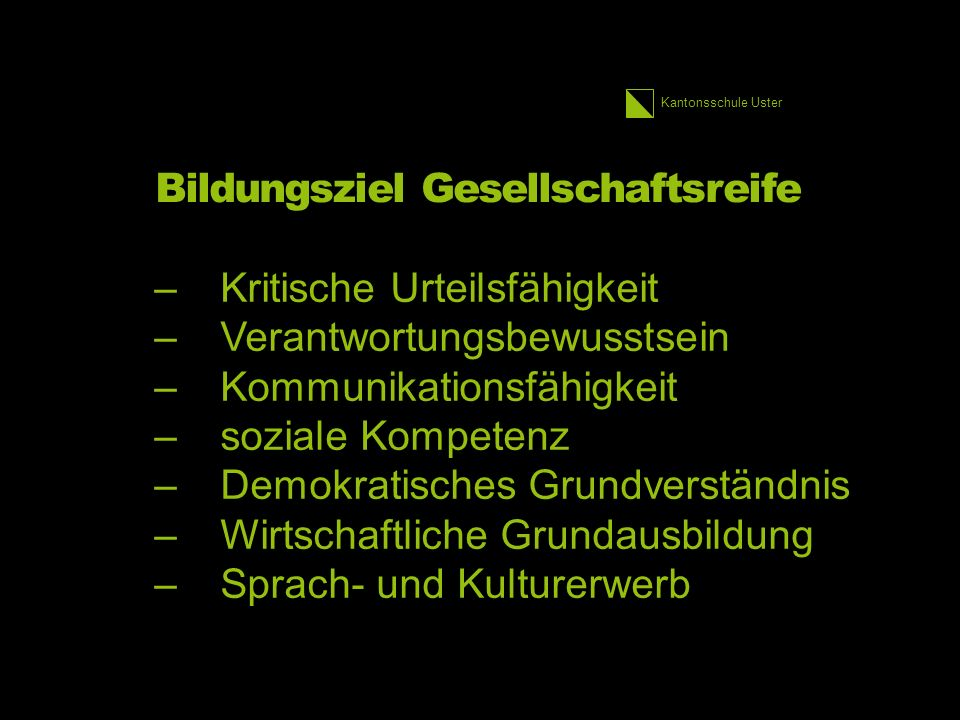 Kantonsschule Uster Ausgangslage Die primäre Funktion dieser zwar vorwiegend, aber durchaus nicht aus- schliesslich «visuellen» Zeit-Bilder.