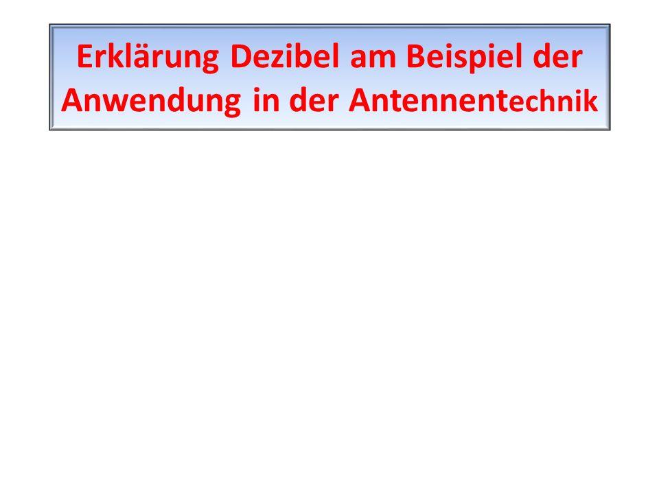 Erklärung Dezibel am Beispiel der Anwendung in der Antennent echnik