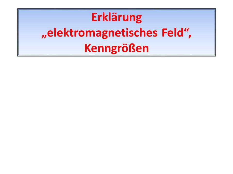 """Erklärung """"elektromagnetisches Feld"""", Kenngrößen"""