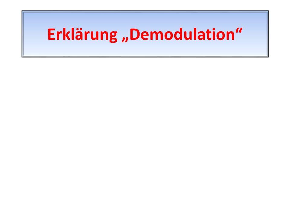 """Erklärung """"Demodulation"""""""