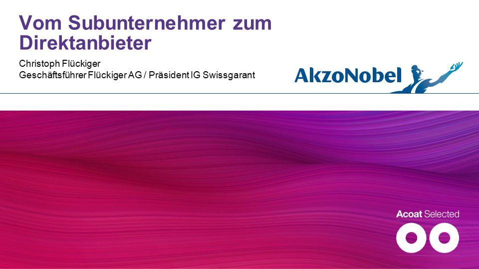 Vom Subunternehmer zum Direktanbieter Christoph Flückiger Geschäftsführer Flückiger AG / Präsident IG Swissgarant