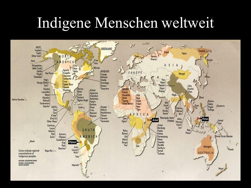 Indigene Menschen weltweit