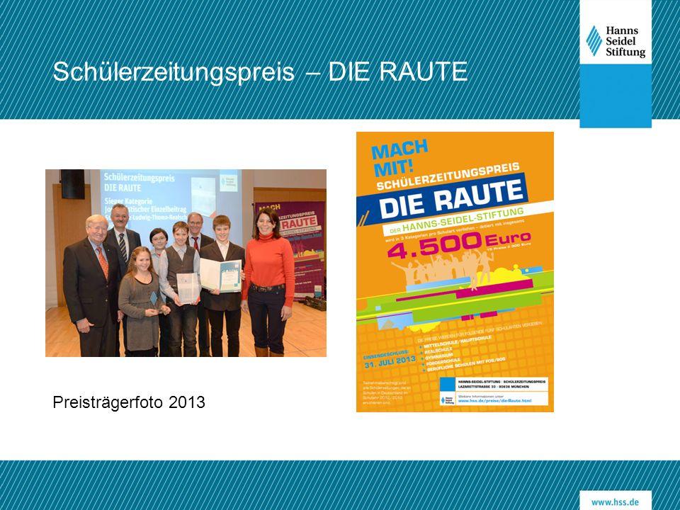 Schülerzeitungspreis – DIE RAUTE Preisträgerfoto 2013