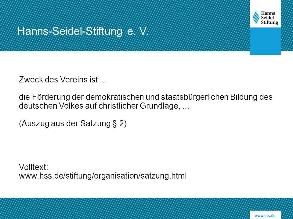 Zweck des Vereins ist... die Förderung der demokratischen und staatsbürgerlichen Bildung des deutschen Volkes auf christlicher Grundlage,... (Auszug a